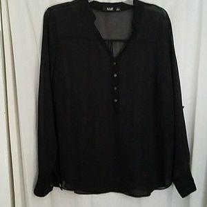 Black Sheer Blouse